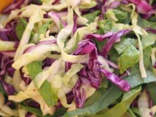 Kupus salata sa mladim lukom i krompirom