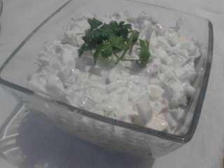 Praziluk salata sa šunkom