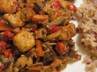 Piletina sa susamom i povrćem