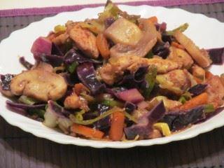 Piletina sa povrćem i šampinjonima