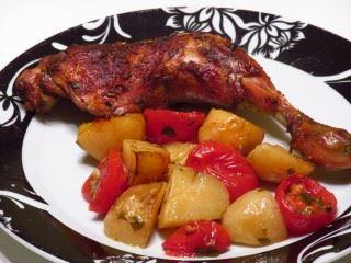 Piletina sa krompirom i paradajizom iz rerne